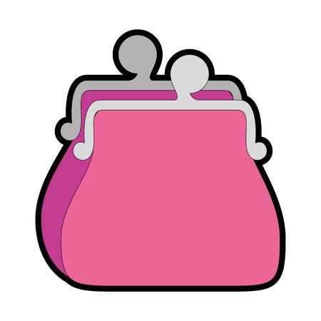 purse icon over white background vector illustration Illustration