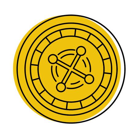 casino roulette geïsoleerd pictogram vector illustratie ontwerp