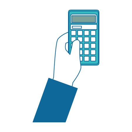 Calculator math pictogram van het apparaat vector illustratie grafisch ontwerp Stockfoto - 83826957