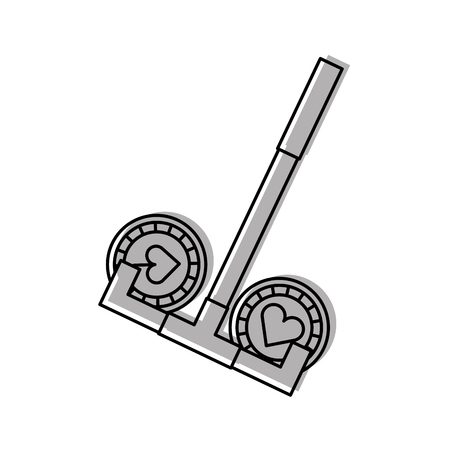 opportunity sign: casino chips with Casino picker vector illustration design Illustration