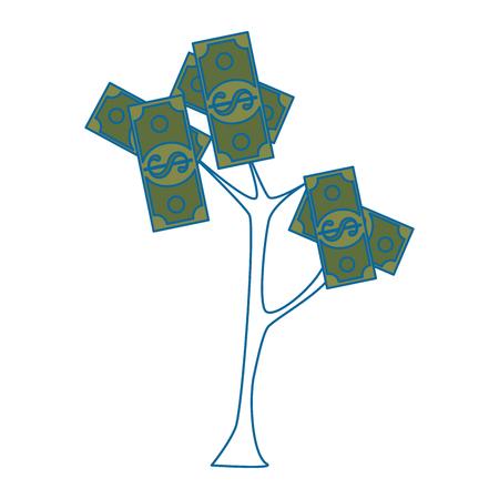 Money plant symbol icon vector illustration graphic design