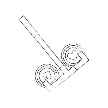 shaped: casino chips with Casino picker vector illustration design Illustration