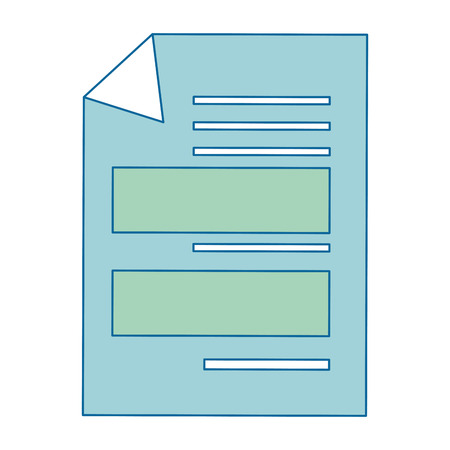 Document pagina pictogram over witte achtergrond vector illustratie