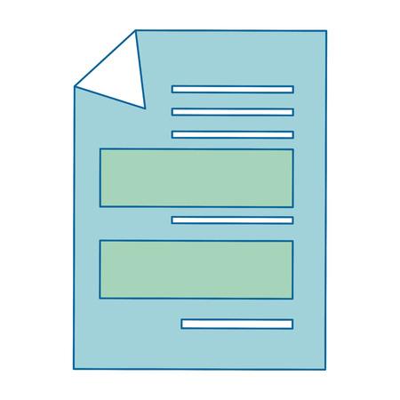 Dokumentseite Symbol auf weißem Hintergrund Vektor-Illustration Standard-Bild - 83827363