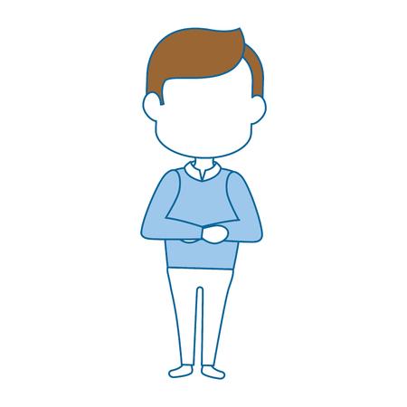 Man cartoon profile icon vector illustration graphic design