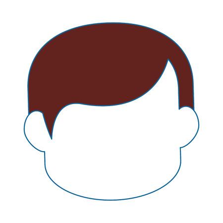 Man cartoon profiel pictogram vector illustratie grafisch ontwerp