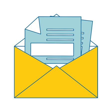 Lettera su posta icona illustrazione vettoriale illustrazione grafica Archivio Fotografico - 83834928