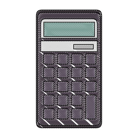 Calcolatrice matematica dispositivo icona illustrazione vettoriale illustrazione grafica Archivio Fotografico - 83827313