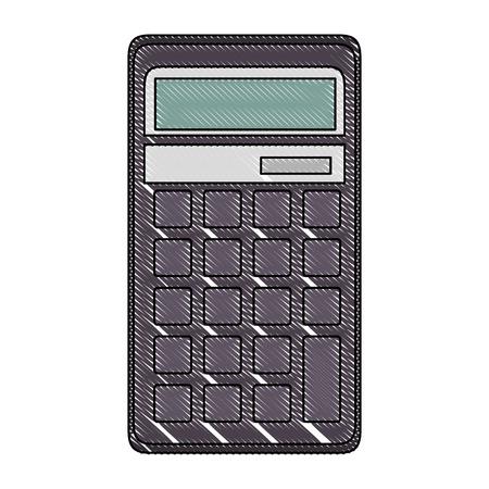 Calculator math pictogram van het apparaat vector illustratie grafisch ontwerp