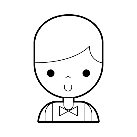 カジノ ディーラー アバター文字ベクトル イラスト デザイン