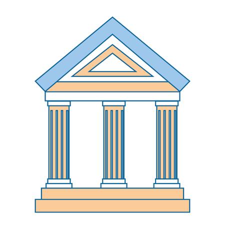 Icona di costruzione banca su sfondo bianco illustrazione vettoriale Archivio Fotografico - 83827558