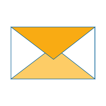 letter mail symbol icon vector illustration graphic design
