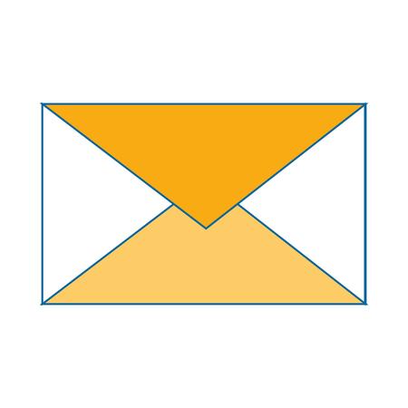 Simbolo di posta simbolo icona illustrazione vettoriale illustrazione grafica Archivio Fotografico - 83834929