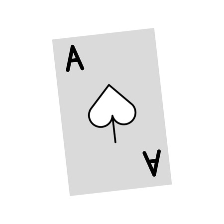 poker card isolated icon vector illustration design 向量圖像