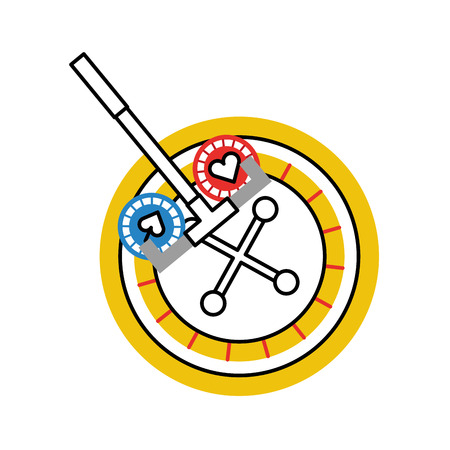 casino roulette with picker vector illustration design