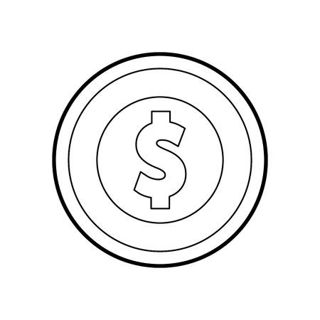 Moeda dinheiro isolado ícone vector ilustração design Foto de archivo - 83827440