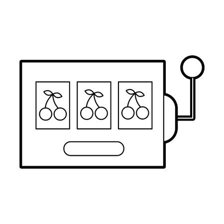슬롯 머신 격리 아이콘 벡터 일러스트 디자인
