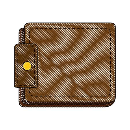 Leather wallet symbol icon vector illustration graphic design