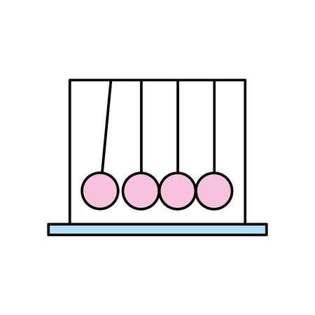 pendulum isolated icon vector illustration design