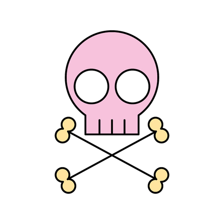 toxic substance: skull danger sign icon vector illustration design Illustration