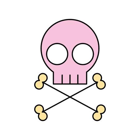 skull danger sign icon vector illustration design 向量圖像