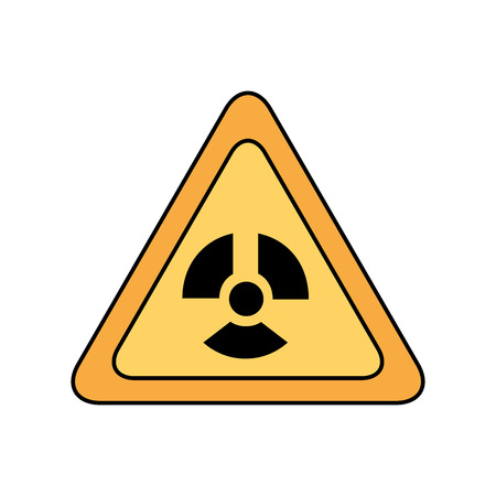 atomic caution signal icon vector illustration design Illusztráció