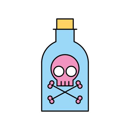 poison bottle with skull vector illustration design Ilustração
