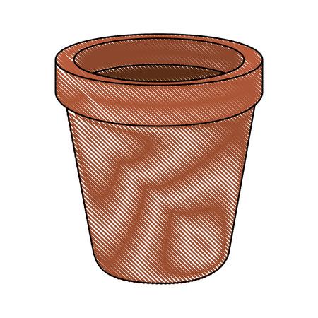 Empty plant pot icon vector illustration graphic design 向量圖像