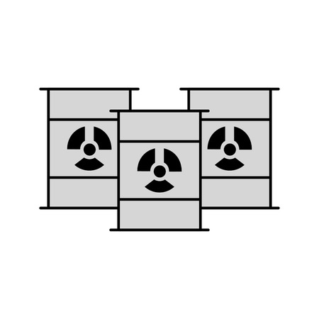 nuclear barrels isolated icon vector illustration design