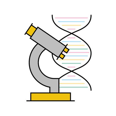 dna molecule with microscope vector illustration design Ilustrace