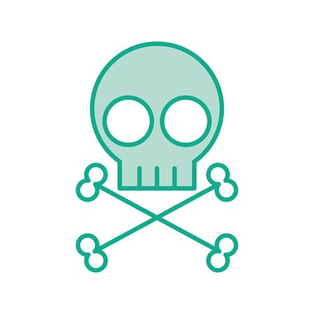 頭蓋骨危険記号アイコン ベクトル イラスト デザイン