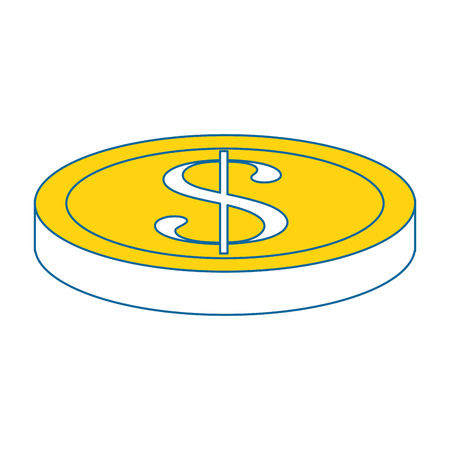 Money coin isolated icon vector illustration graphic design Иллюстрация