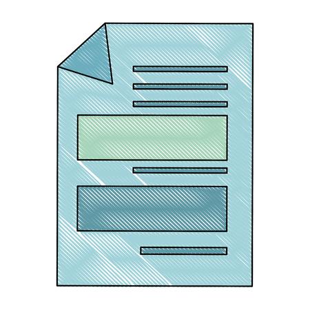 Gli strati dei documenti hanno isolato la progettazione grafica dell'illustrazione di vettore dell'icona Archivio Fotografico - 83828186