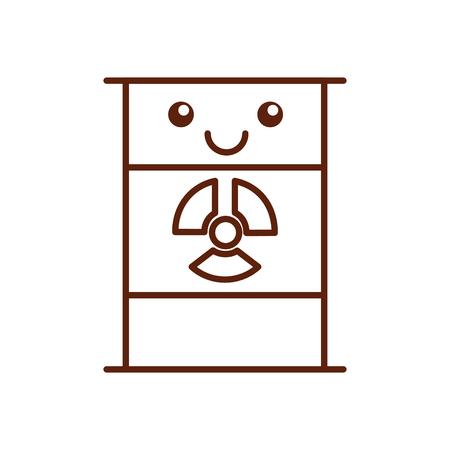 nuclear barrel character vector illustration design