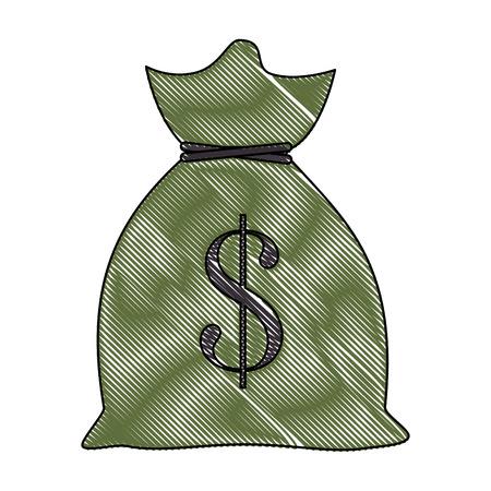 お金分離バッグ アイコン ベクトル イラスト グラフィック デザイン  イラスト・ベクター素材