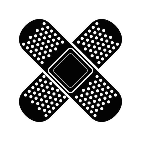붕대 고립 된 아이콘 벡터 일러스트 그래픽 디자인