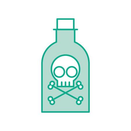 poison bottle: poison bottle with skull vector illustration design Illustration