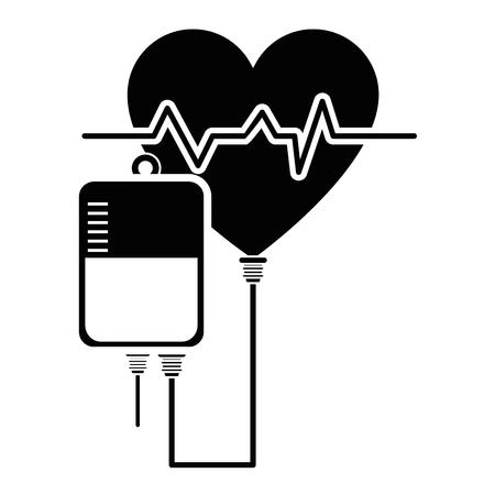 Blood bag donation icon vector illustration graphic design