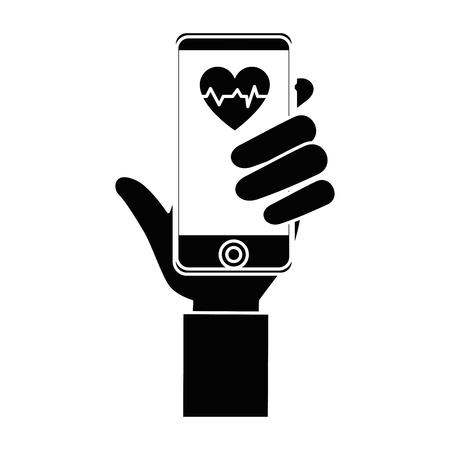 Smartphone medical app icon vector illustration graphic design Illustration