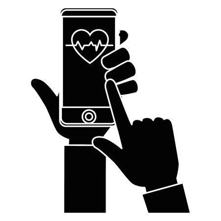 スマート フォン医療アプリ アイコン ベクトル イラスト グラフィック デザイン