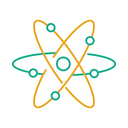 Atom-Molekül isoliert Symbol Vektor-Illustration, Design, Standard-Bild - 83828372