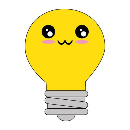 Bulb light energy cartoon icon vector illustration graphic design Çizim