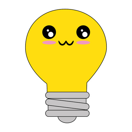 Bulb light energy cartoon icon vector illustration graphic design Illustration