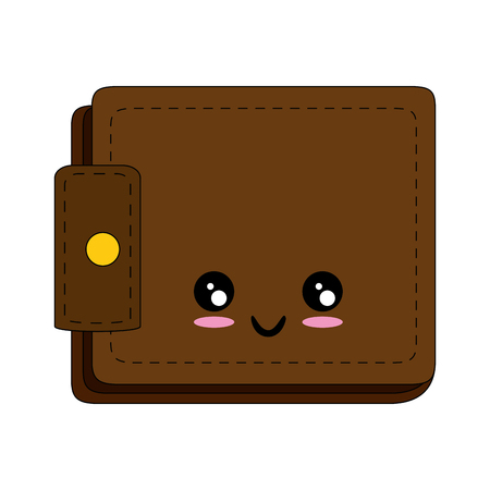 Leather wallet symbol cartoon icon vector illustration graphic design