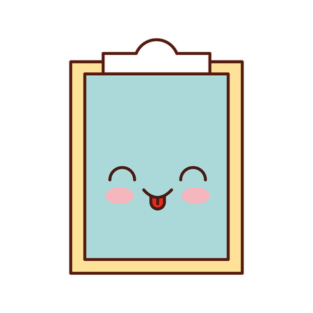 paper clipboard character vector illustration design Stock Vector - 83835118