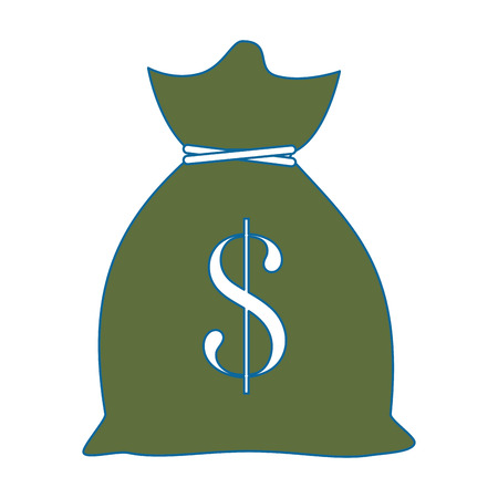 Money bag isolated icon vector illustration graphic design