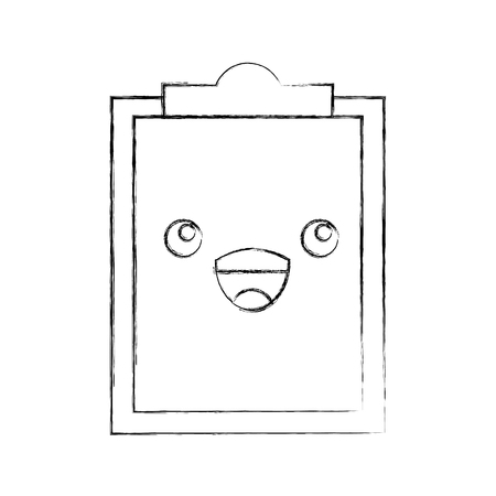 paper clipboard character vector illustration design