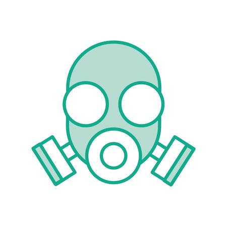 Masque de laboratoire isolé icône du design d & # 39 ; illustration vectorielle Banque d'images - 83830249