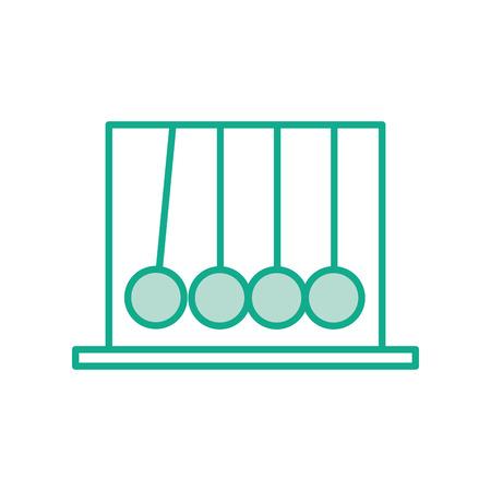 Newton pendulum isolated icon vector illustration design Illustration