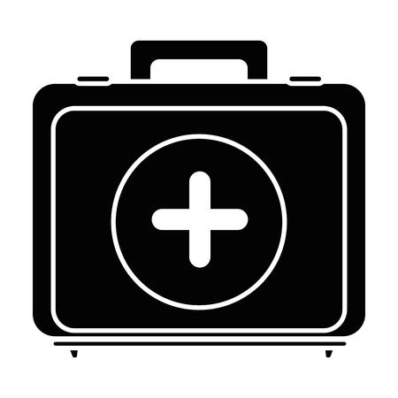 First aid kit icon vector illustration graphic design Ilustração